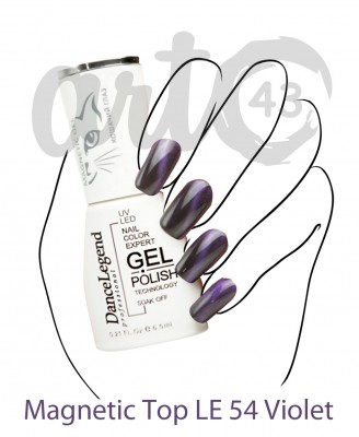 Топ для гель-лака DL Magnetic Top le54 Violet