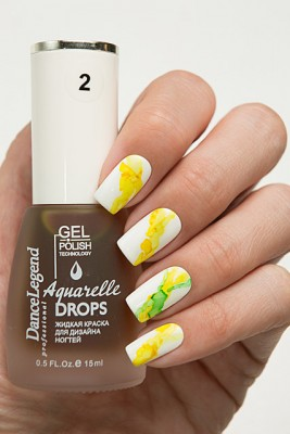 DL Aquarelle Drops 2 Yellow