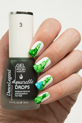 DL Aquarelle Drops 3 Green