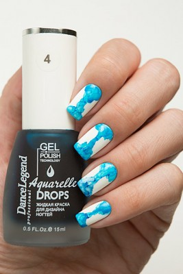 DL Aquarelle Drops 4 Sky Blue