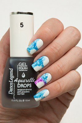 DL Aquarelle Drops 5 Blue