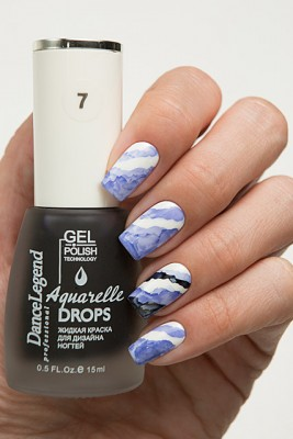 DL Aquarelle Drops 7 Deep Blue