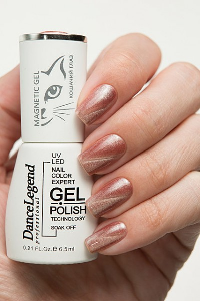 Гель-лак DL Magnetic Nude le166 Full monty