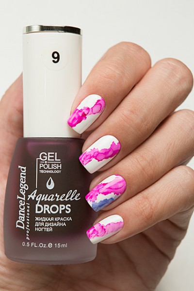 DL Aquarelle Drops 9 Pink